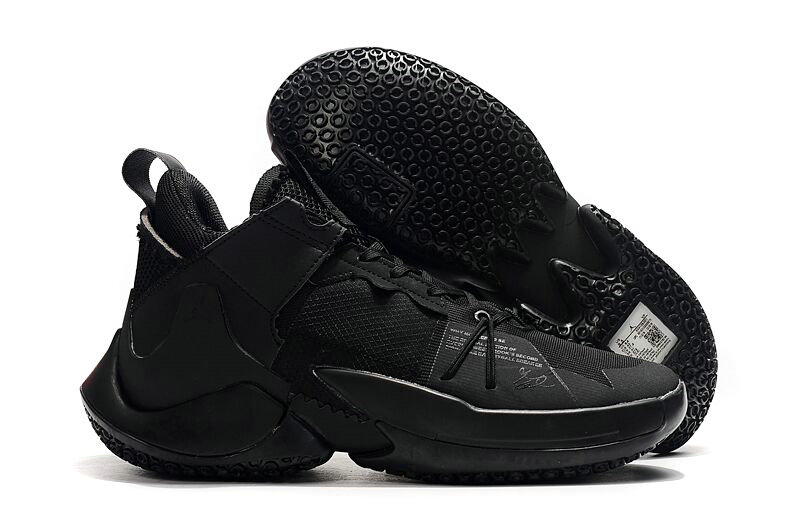 2019 Where To Buy Wholesale Cheap Nike Jordan Why Not Zero.2 SE Triple Black