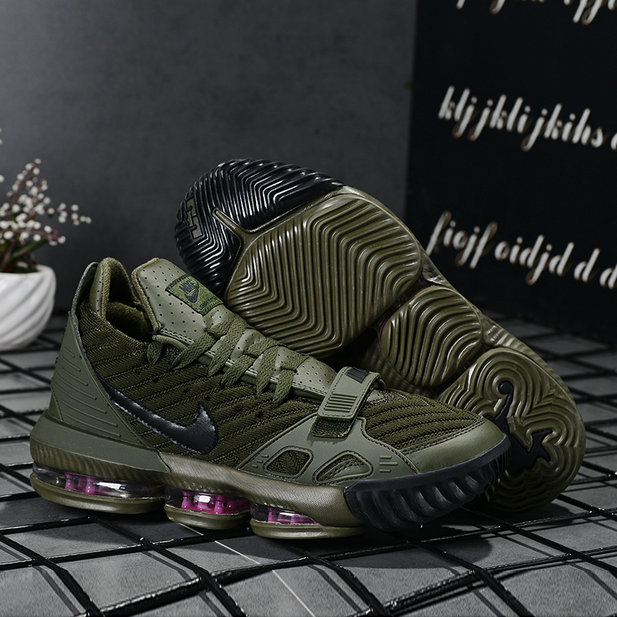 2019 Where To Buy Wholesale Cheap Nike LeBron 16 Army Green Black