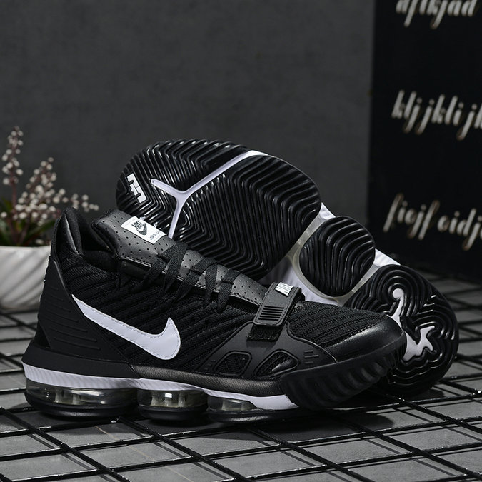 2019 Where To Buy Wholesale Cheap Nike LeBron 16 Black White