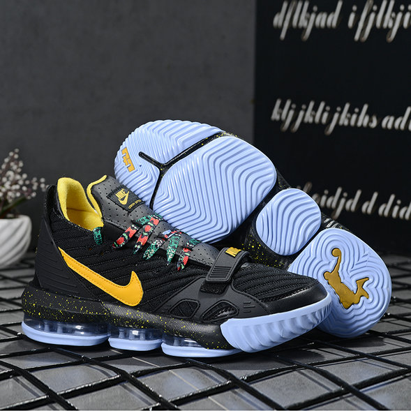 2019 Where To Buy Wholesale Cheap Nike LeBron 16 Black Yellow