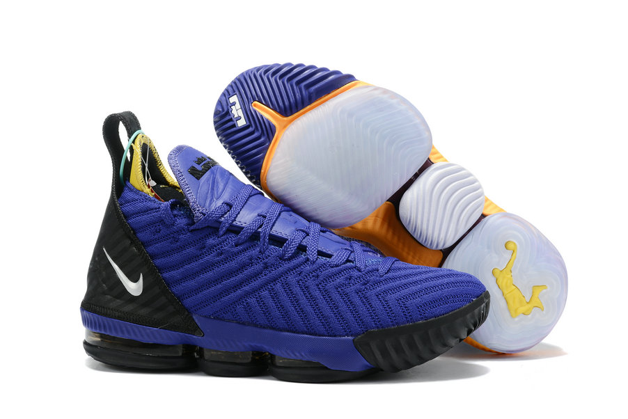 2019 Where To Buy Wholesale Cheap Nike LeBron 16 Blue Black White Yellow