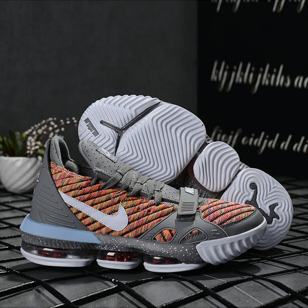 2019 Where To Buy Wholesale Cheap Nike LeBron 16 Grey Multi-Color