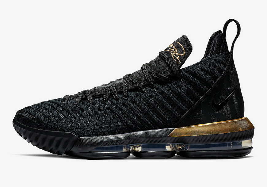 2019 Where To Buy Wholesale Cheap Nike LeBron 16 Im King Metallic Gold-Black BQ5970-007