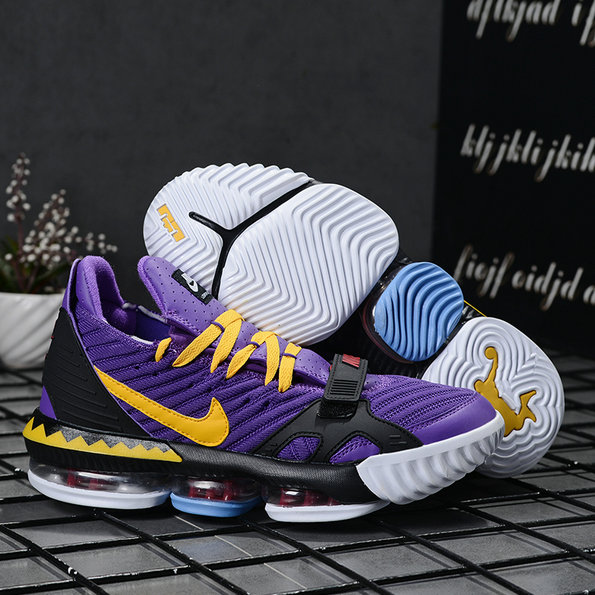 2019 Where To Buy Wholesale Cheap Nike LeBron 16 Laker Purple Yellow Black