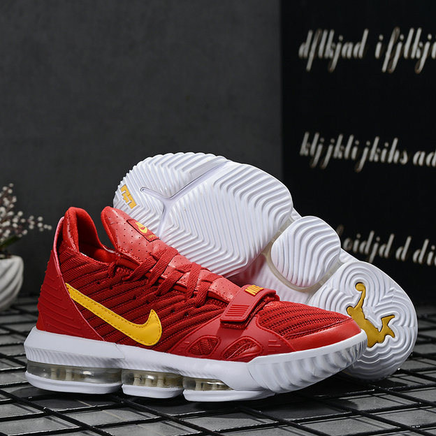 2019 Where To Buy Wholesale Cheap Nike LeBron 16 University Red Yellow