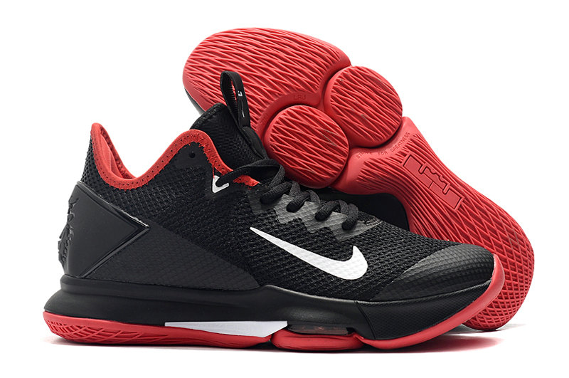2019 Where To Buy Wholesale Cheap Nike LeBron Witness 4 Black Red White