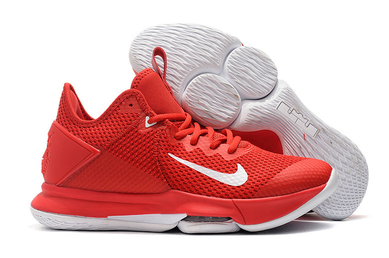 2019 Where To Buy Wholesale Cheap Nike LeBron Witness 4 University Red White