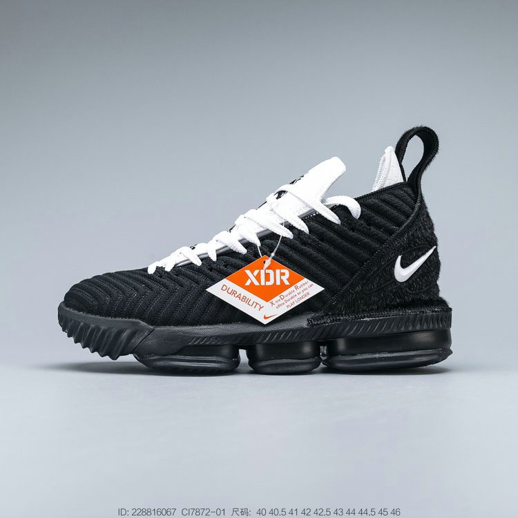 2019 Where To Buy Wholesale Cheap Nike LeBron XVI EP Black White Noir Blanc CI7872-001