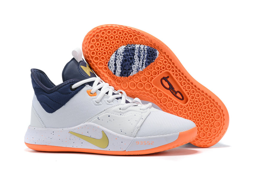 2019 Where To Buy Wholesale Cheap Nike PG 3 White Navy Blue