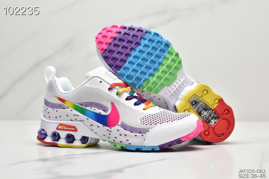 2019 Where To Buy Wholesale Cheap Nike Shox Reax Run White Colorful