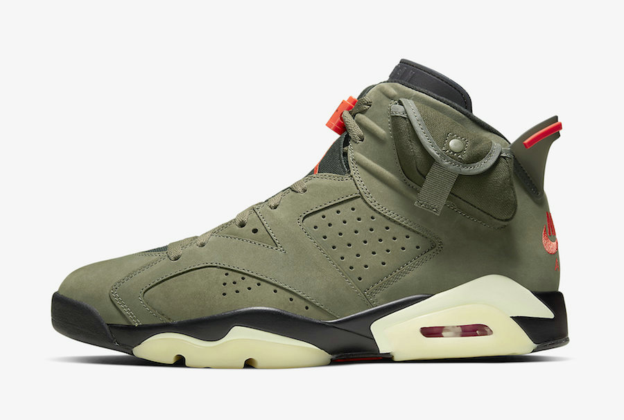 2019 Where To Buy Wholesale Cheap Nike Travis Scott Air Jordan 6 Medium Olive Cactus Jack CN1084-200
