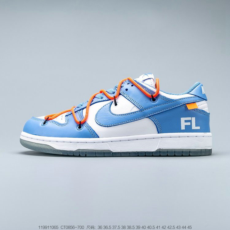 2019 Where To Buy Wholesale Cheap OFF-WHITE x Futura x Nike Dunk Low Powder Blue CT0856-700
