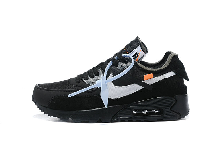 2019 Where To Buy Wholesale Cheap Off White X Nike Air Max 90 Black Silver AA7293-100