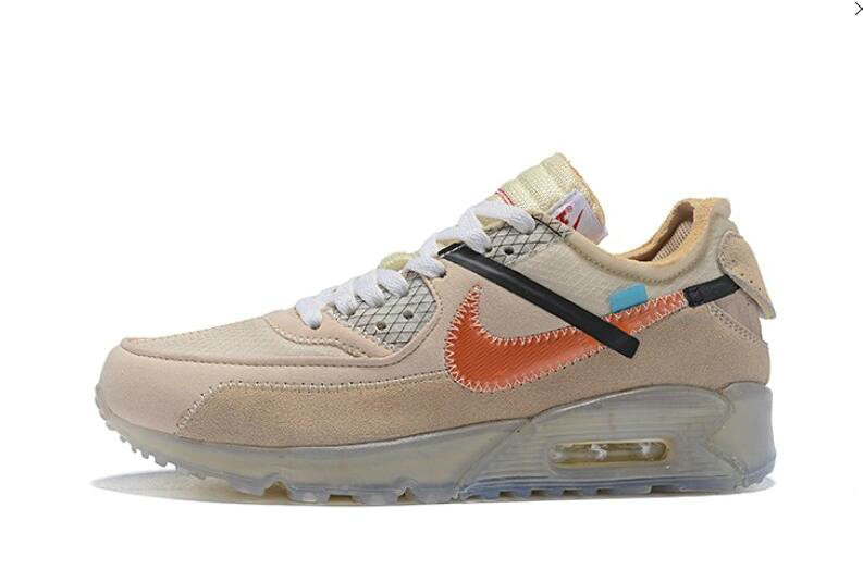 2019 Where To Buy Wholesale Cheap Off White X Nike Air Max 90 Desert Ore OW AA7293-105