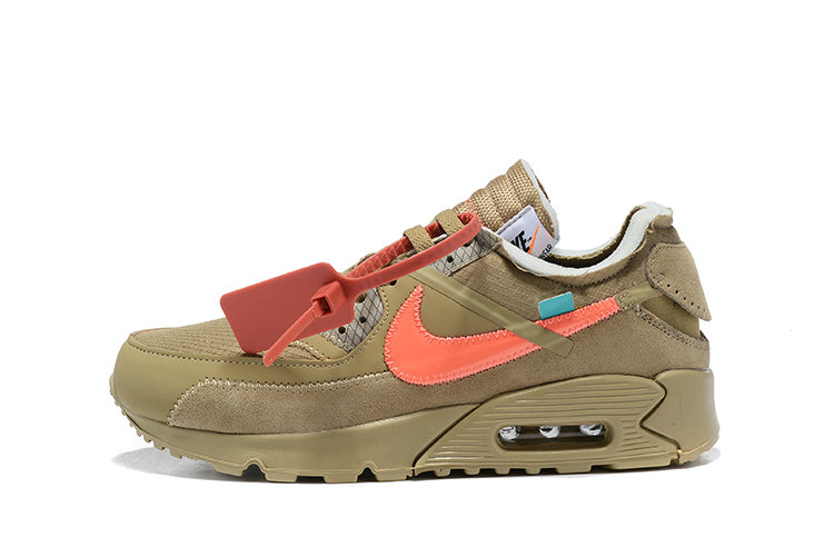 2019 Where To Buy Wholesale Cheap Off White X Nike Air Max 90 Desert Ore OW AA7293-200