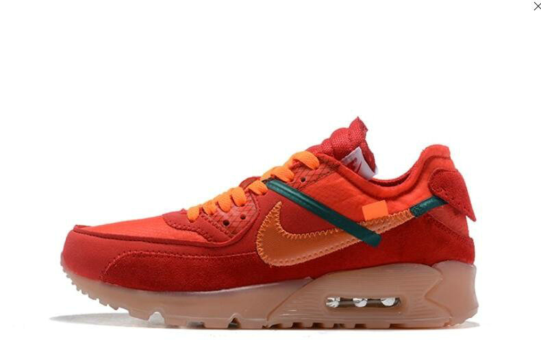 2019 Where To Buy Wholesale Cheap Off White X Nike Air Max 90 Red Orange OW AA7293-600
