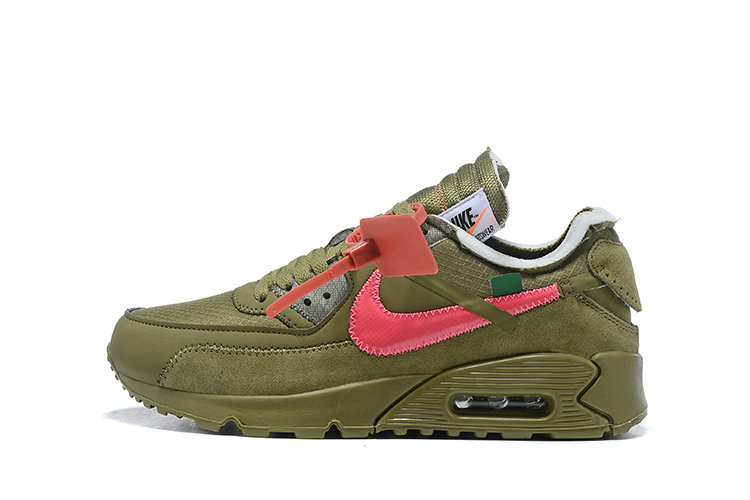 2019 Where To Buy Wholesale Cheap Off White X Nike Air Max 90 The 10 Army Green OW AA7293-201