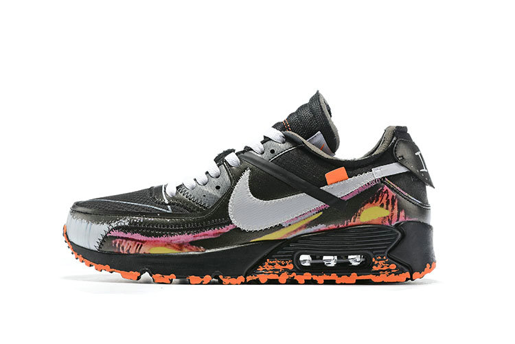 2019 Where To Buy Wholesale Cheap Off-White x Nike Air Max 90 Flame Black