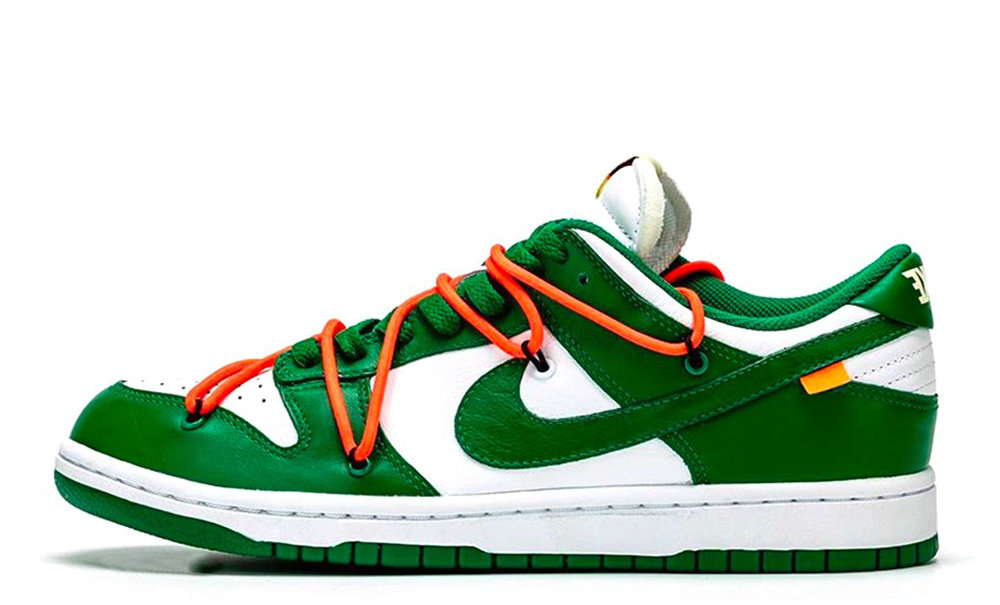 2019 Where To Buy Wholesale Cheap Off-White x Nike Dunk Low Pine Green CT0856-100