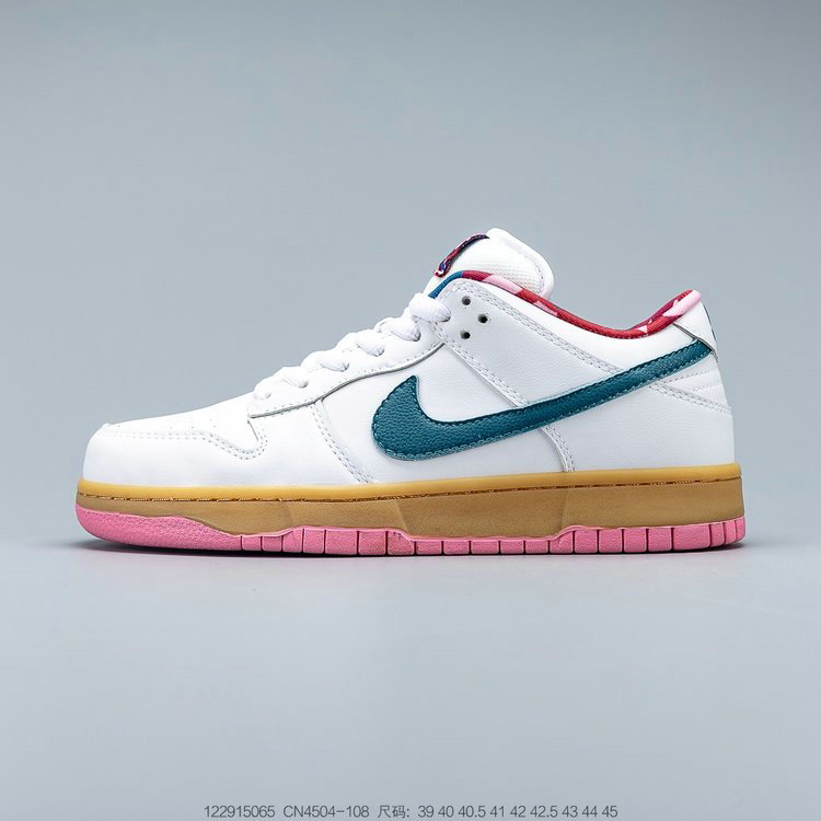 2019 Where To Buy Wholesale Cheap Parra x Nike SB Dunk Low White Blue-Pink CN4504-108