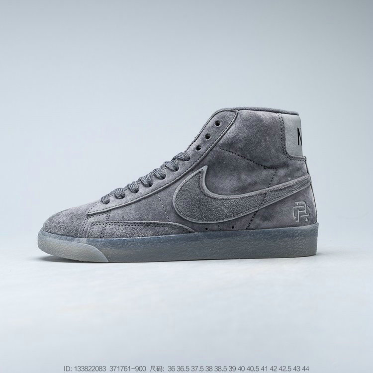 2019 Where To Buy Wholesale Cheap Reigning Champ x Nike SB Zoom Blazer Mid Dark Grey Black-Reflective 371761-900
