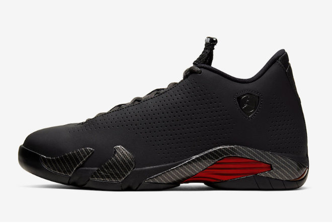 Where To Buy 2020 Air Jordan 14 SE Black Ferrari Black Anthracite-Varsity Red BQ3685-001