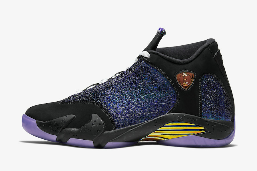 2020 Wholesale Cheap Nike Air Jordan 14 Retro Doernbecher Colorway Black Court Purple-Multi-Color-White CV2470-001