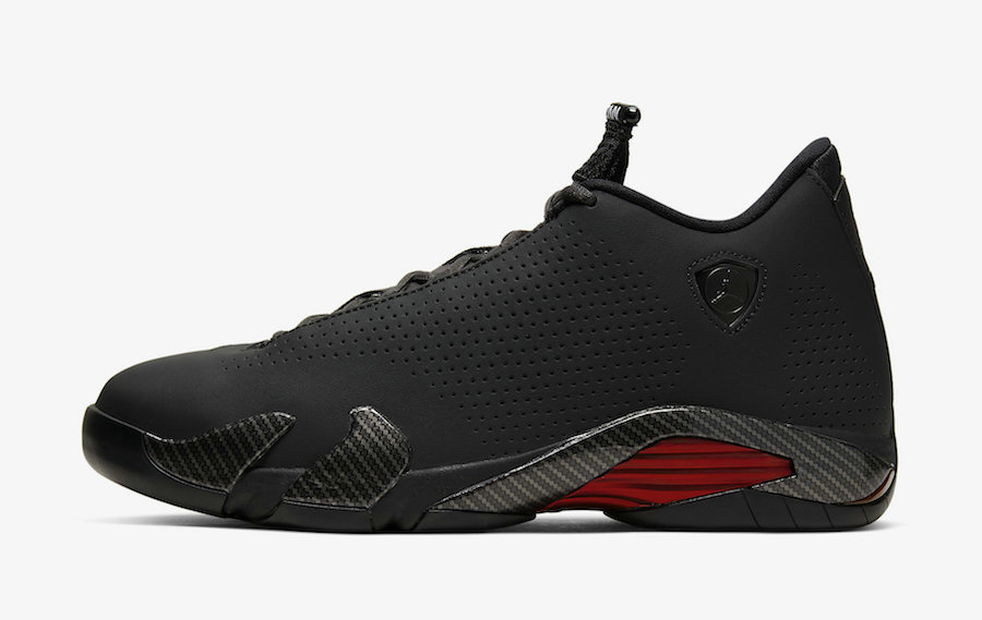 2020 Wholesale Cheap Nike Air Jordan 14 SE Black Ferrari Black Anthracite-Varsity Red-Black BQ3685-001
