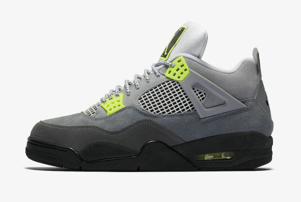 2020 Wholesale Cheap Nike Air Jordan 4 Retro SE Neon Cool Grey Volt Wolf Grey Anthracite CT5342-007