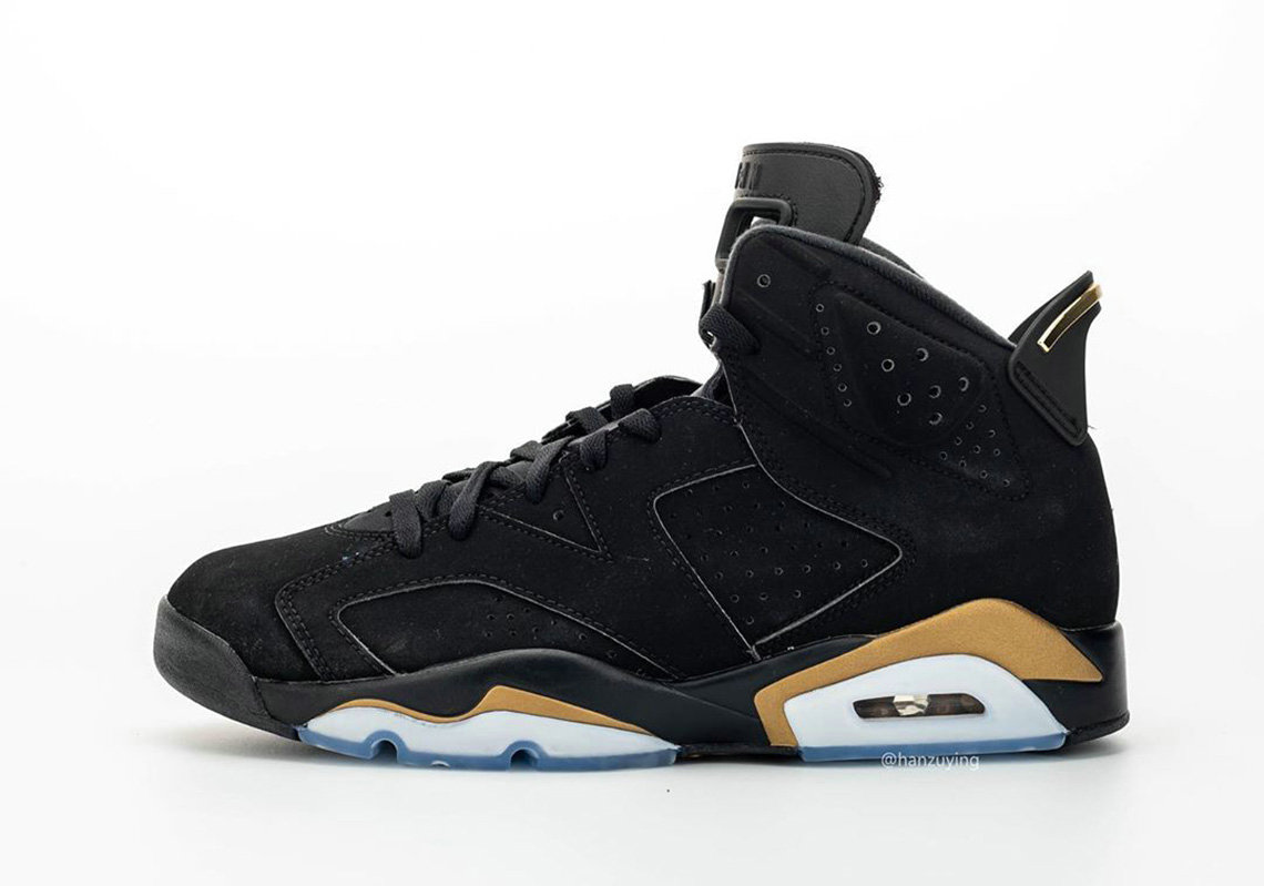 2020 Wholesale Cheap Nike Air Jordan 6 DMP Black Metallic Gold-Black CT4594-007
