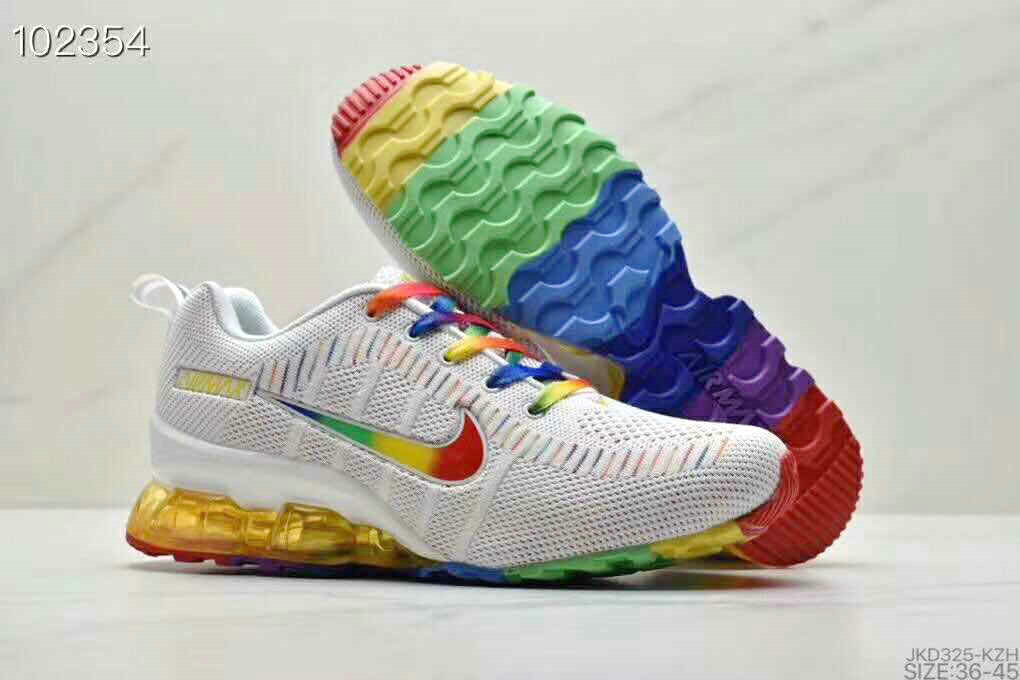 2020 Wholesale Cheap Nike Air Max 2020 Air Cushion White Rainbow