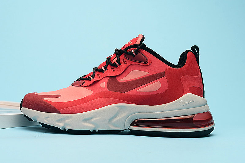 2020 Wholesale Cheap Nike Air Max 270 React Mystic Red Bright Crimson Pink Blast