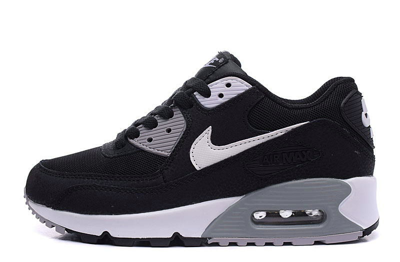2020 Wholesale Cheap Nike Air Max 90 Essential Black White Dark Grey Shoes Best Price 537384-032