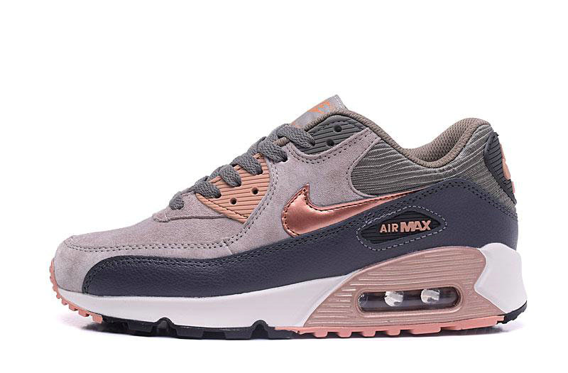 2020 Wholesale Cheap Nike Air Max 90 Red Bronze Sail Oatmeal 768887-201