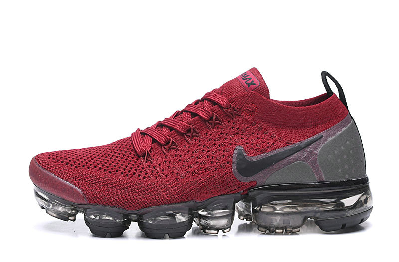 2020 Wholesale Cheap Nike Air VaporMax Flyknit 2.0 Wine Red Black Grey 942843-604