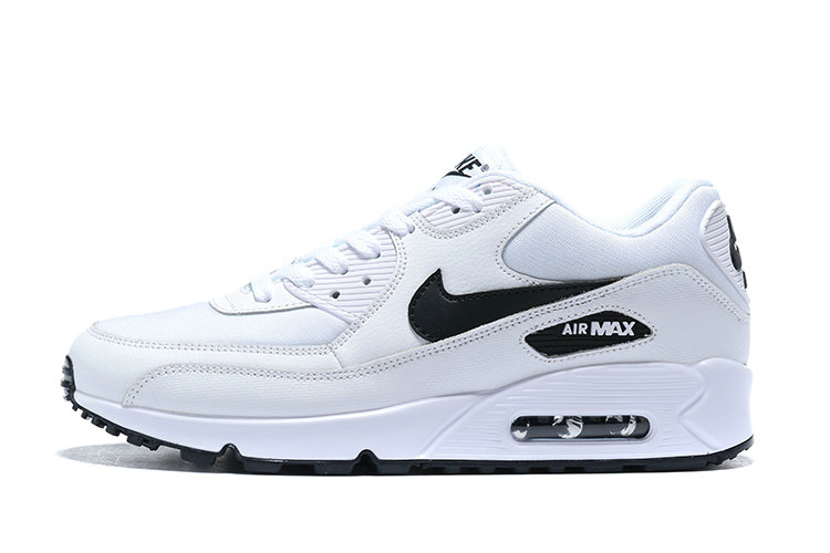 2020 Wholesale Cheap Nike Dame Air Max 90 LE Hvid Sort 325213-131