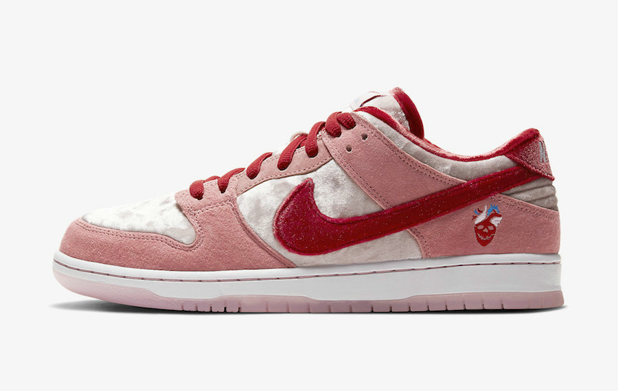 2020 Wholesale Cheap Nike SB Dunk Low Valentines Day Bright Melon Gym Red Clair Rouge CT2552-800