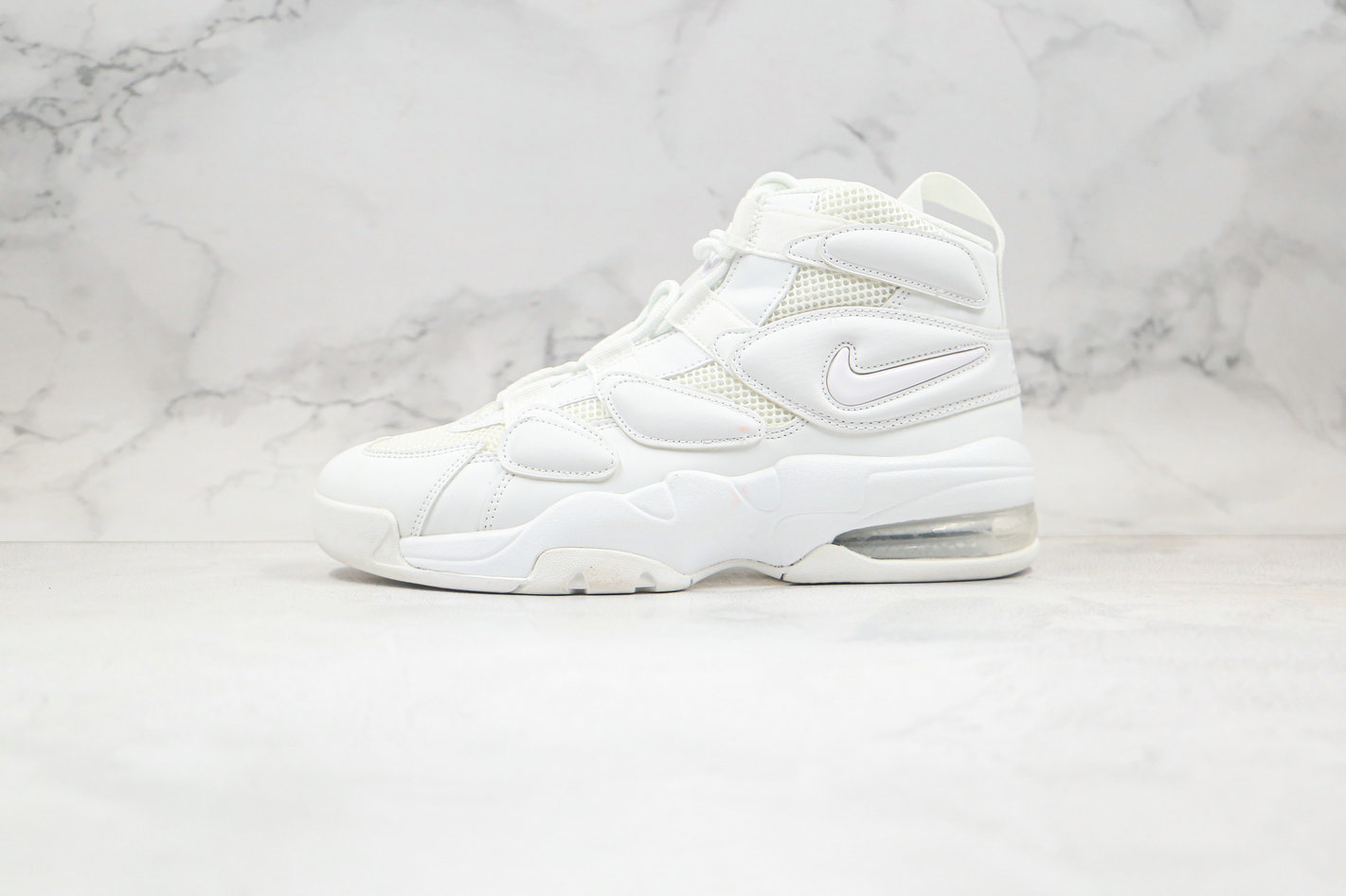 2020 Cheapest Nike Air Max Uptempo 2 Triple White 922934-100