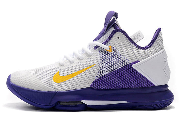 Where To Buy 2020 Nike LeBron Witness 4 EP Lakers White Amarillo-Field Purple CD0188-100