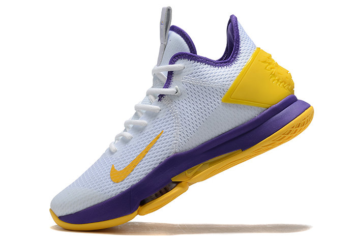 Where To Buy 2020 Nike LeBron Witness 4 IV EP White Purple-Yellow For Sale