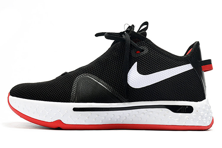 Where To Buy 2020 Nike PG 4 Bred Black White-University Red For Sale