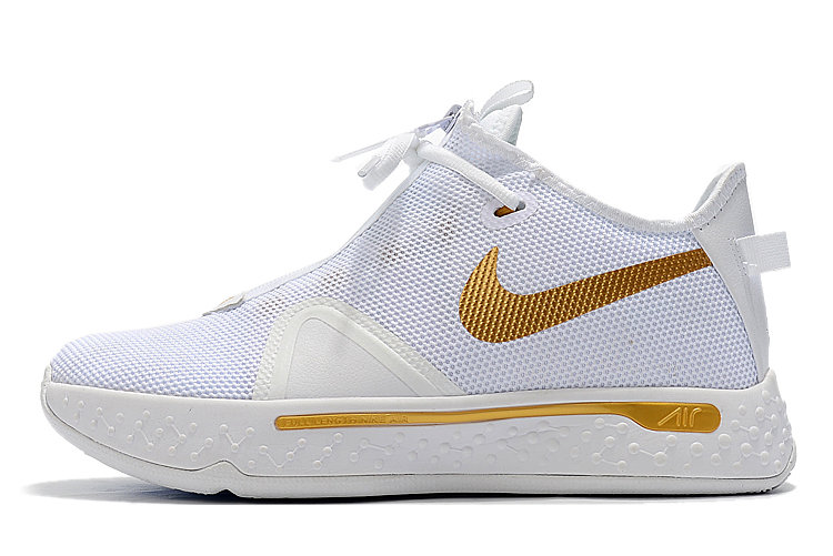 Where To Buy 2020 Nike PG 4 White Metallic Gold For Sale