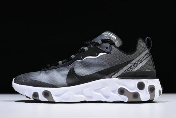 Where To Buy 2020 Nike React Element 87 Anthracite Black-White AQ1090-001 Free Shipping