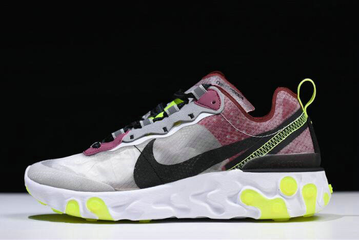 Where To Buy 2020 Nike React Element 87 Desert Sand Cool Grey-Smokey Mauve AQ1090-002 For Sale