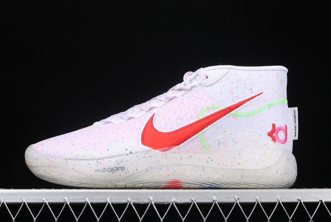 Where To Buy 2020 Nike Zoom KD 12 EP White Multi Color-Red AR4230-118