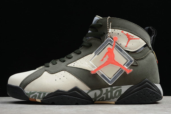 Where To Buy 2020 Patta x Air Jordan 7 OG SP Icicle Sequoia-River Rock-Light Crimson AT3375-100