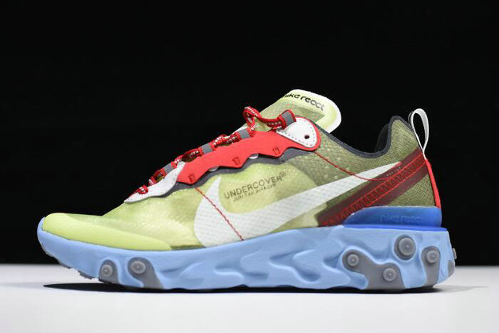 Where To Buy 2020 Undercover x Nike React Element 87 Volt Volt University Red-White BQ2718-700