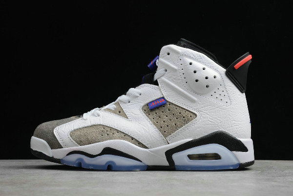 Where To Buy 2020 Womens Air Jordan 6 Flint Grey White Black-Infrared 23-Dark Concord CI3125-100