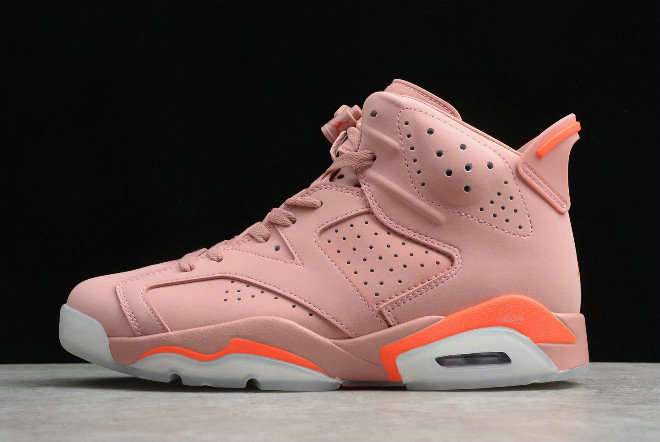 Where To Buy 2020 Womens Aleali May x Air Jordan 6 Millennial Pink Rust Pink Bright Crimson CI0550-600 For Sale