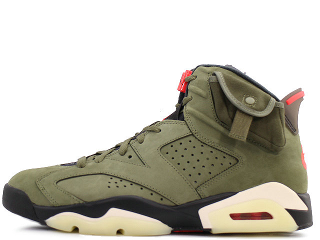 2020 Womens Wholesale Cheap Nike Air Jordan 6 Retro Sp Travis Scott Medium Olive Infrared-Black CN1084-200